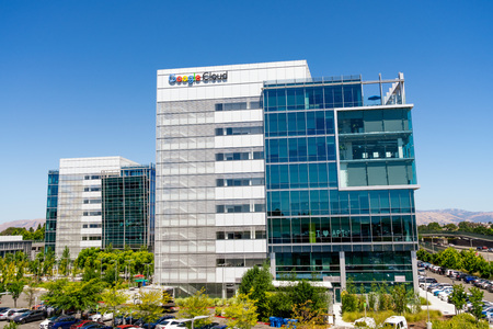 July 19, 2019 Sunnyvale / CA / USA - Google Cloud headquarters located in a modern office park in Silicon Valley; South San Francisco bay area