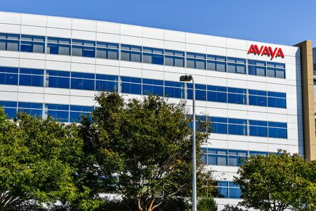 August 1, 2019 Santa Clara  CA  USA - Avaya headquarters located in Silicon Valley;  Avaya Inc is an American multinational technology company that specializes in business communications Editorial