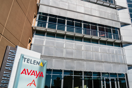 August 1, 2019 Santa Clara  CA  USA - Avaya and Telenav headquarters located in Silicon Valley;  Avaya specializes in business communications and Telenav provides wireless location-based services