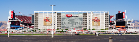 August 1, 2019 Santa Clara  CA  USA - Panoramic view of Levis Stadium, the New Home Of The San Francisco 49ers built in Silicon Valley