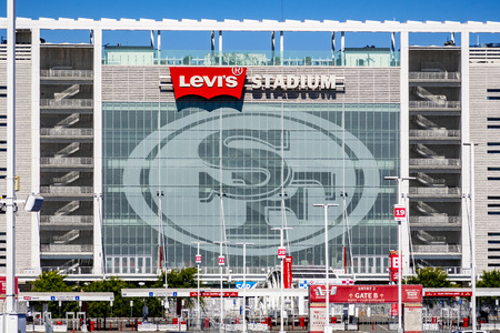 August 1, 2019 Santa Clara  CA  USA - Levis Stadium, the New Home Of The San Francisco 49ers of the National Football League; Silicon Valley Editorial