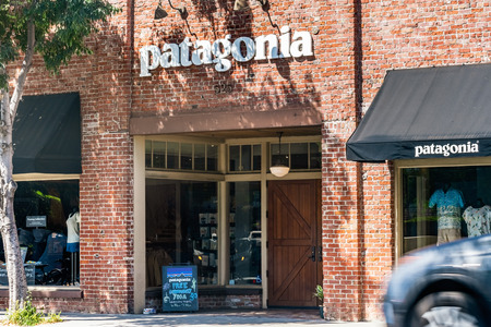 July 30, 2019 Palo Alto  CA  USA - Entrance to the Patagonia store located in downtown Palo Alto Editorial
