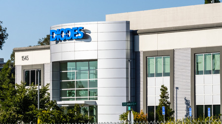 July 31, 2019 Milpitas  CA  USA - Diodes Inc headquarters located in Silicon Valley; Diodes is an American manufacturer and supplier of discrete, logic, analog and mixed-signal semiconductors