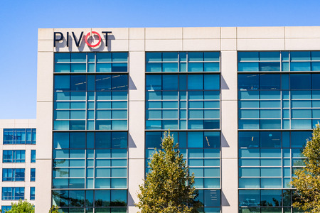 July 29, 2019 Santa Clara  CA  USA - Pivot Interiors corporate offices located in Silicon Valley; Pivot offers office design and furnishing services Editorial