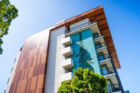 July 26, 2019 Palo Alto  CA  USA - Nobu Hotel and Restaurant close to downtown Palo Alto, San Francisco Bay area