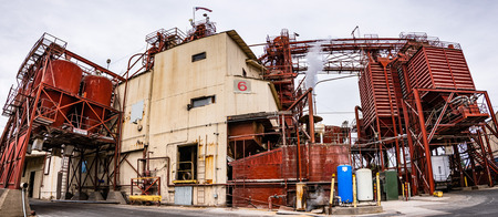 June 28, 2019 Oakdale  CA  USA - Animal feed production facility owned by Farmers Warehouse, a division of A L Gilbert Co Oakdale Editorial