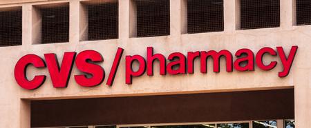 August 5, 2019 Mountain View  CA  USA - CVS  pharmacy logo; CVS Pharmacy is a subsidiary of the American retail and health care company CVS Health Editorial