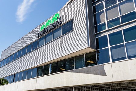 July 30, 2019 Santa Clara  CA  USA - HortonWorks Headquarters in Silicon Valley; Hortonworks completed its merger with Cloudera in January 2019 Editorial