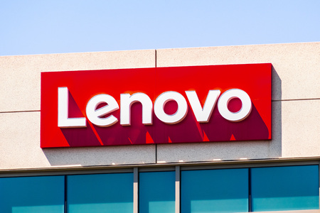 July 29, 2019 Santa Clara  CA  USA - Lenovo Group Limited signage at their headquarters located in Silicon Valley; Lenovo is a Chinese technology company with headquarters in Beijing, China