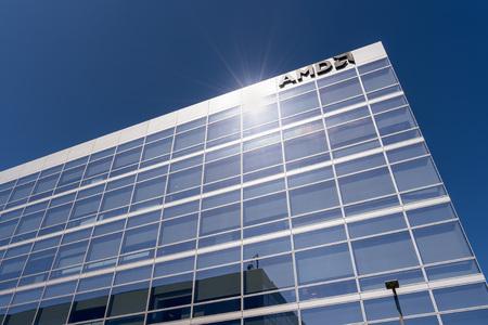 July 30, 2019 Santa Clara  CA  USA - AMD offices located in Silicon Valley, south San Francisco bay area