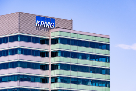 August 6, 2019 Sunnyvale  CA  USA - KPMG office building in South San Francisco bay area; KPMG is one of the Big Four accounting organizations Editorial