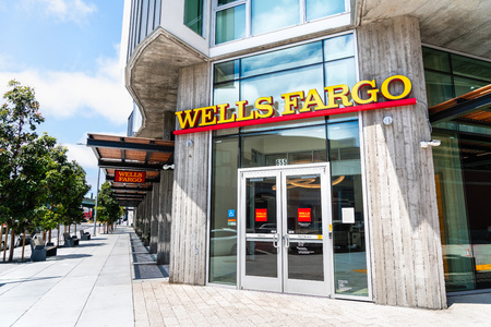 August 10, 2019 San Francisco  CA  USA - Wells Fargo branch in SOMA district Editorial
