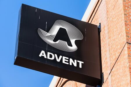 Sep 20, 2019 San Francisco / CA / USA - SS&C Advent, formerly known as Advent Software sign (subsidiary of  SS&C Technologies) at their HQ; SS&C Advent offers automate portfolio accounting solutions Editorial
