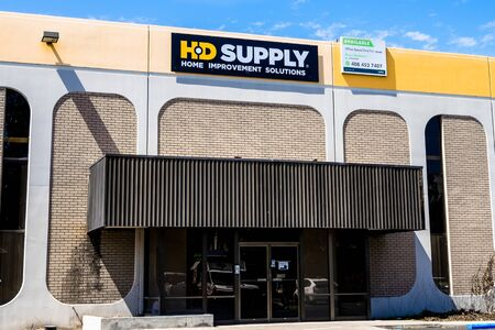September 5, 2019 Santa Clara / CA / USA - HD Supply Home Improvement solution store in South San Francisco Bay Area; HD Supply, Inc. is an industrial distributor in North America Redakční