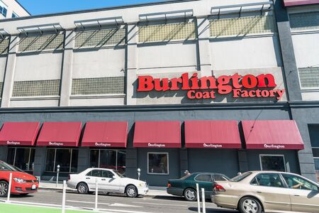 August 21, 2019 San Francisco / CA / USA - Burlington store in SOMA district; Burlington, formerly known as Burlington Coat Factory, is an American national off-price department store retailer