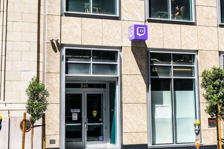 August 21, 2019 San Francisco / CA / USA - Twitch headquarters in the downtown area; Twitch is a live streaming video platform owned by Twitch Interactive, a subsidiary of Amazon