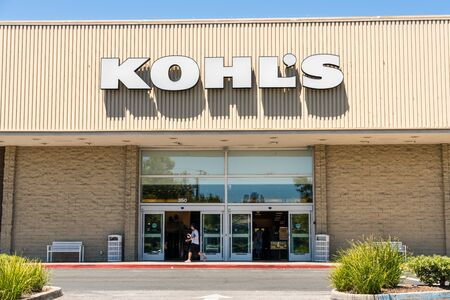 August 1, 2019 Mountain View / CA / USA - Kohl's store entrance at one of their locations in South San Francisco bay area; Kohl's is an American department store retail chain Editorial