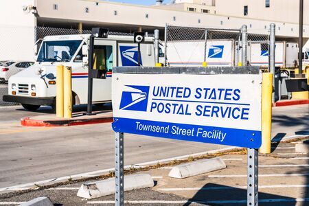 Sep 20, 2019 San Francisco / CA / USA - United States Postal Service facility in South of Market District