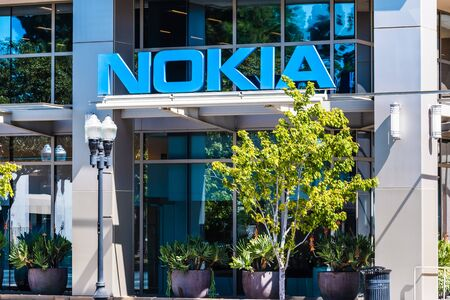 Sep 9, 2019 Sunnyvale  CA  USA - Nokia office building in Silicon Valley; Nokia Corporation is a Finnish multinational telecommunications, information technology, and consumer electronics company