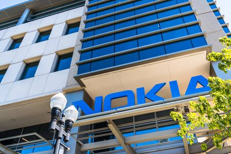Sep 23, 2019 Sunnyvale  CA  USA - Nokia office building in Silicon Valley; Nokia Corporation is a Finnish multinational telecommunications, information technology, and consumer electronics company