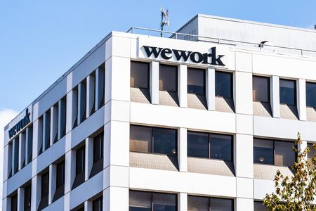 Oct 18, 2019 Berkeley  CA  USA - WeWork office building located in downtown Berkeley; WeWork is an American company that provides shared work spaces