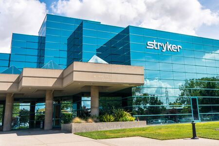 Sep 16, 2019 Fremont  CA  USA - Stryker Corporation headquarters in Silicon Valley; Stryker Corporation is a Fortune 500 medical technologies firm