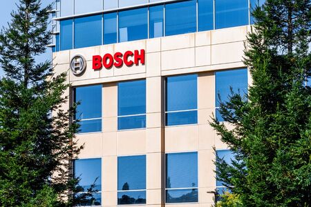 August 7, 2019 Sunnyvale  CA  USA - Bosch Research and Technology Center North America headquarters in Silicon Valley; Robert Bosch GmbH is a German multinational engineering and technology company