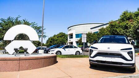 September 9, 2019 San Jose  CA  USA - NIO corporate headquarters in Silicon Valley; Nio is a Chinese automobile manufacturer specializing in designing and developing electric autonomous vehicles Redakční