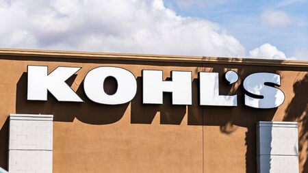 Sep 16, 2019 Milpitas  CA  USA - Kohls sign at one of their locations in South San Francisco bay area; Kohls is an American department store retail chain