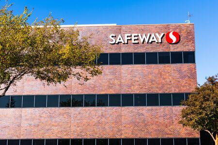 Nov 15, 2019 Pleasanton  CA  USA - Safeway Northern California Division corporate headquarters in San Francisco bay area; Safeway is an American supermarket chain, subsidiary of Albertsons Companies