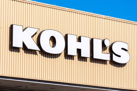 Oct 24, 2019 Mountain View / CA / USA - Kohl's sign at one of their locations in South San Francisco bay area; Kohl's is an American department store retail chain