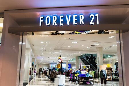 Nov 15, 2019 Pleasanton  CA  USA - Forever 21 store located in East San Francisco Bay Area; At the end of September, Forever 21 filed for bankruptcy and will close 350 stores worldwide Editorial
