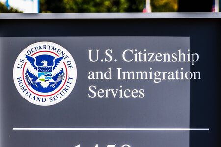 Nov 20, 2019 Santa Clara / CA / USA - U.S. Citizenship and Immigration Services (USCIS) office located in Silicon Valley; USCIS is an agency of the U.S. Department of Homeland Security (DHS)