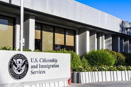 Nov 24, 2019 Santa Clara / CA / USA - U.S. Citizenship and Immigration Services (USCIS) office located in Silicon Valley; USCIS is an agency of the U.S. Department of Homeland Security (DHS) Sajtókép