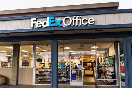 Nov 30, 2019 Sunnyvale / CA / USA - FedEx Office Print and Ship Center exterior view