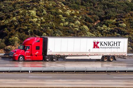 Dec 8, 2019 Los Angeles / CA / USA - Knight Transportation truck driving on the freeway; Knight-Swift Transportation Holdings Inc. (or Knight-Swift) is the largest trucking company in the US