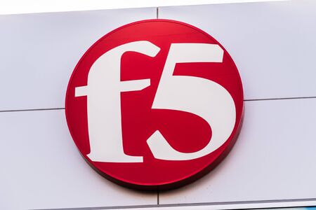 Dec 14, 2019 San Jose / CA / USA - F5 Networks sign at their corporate headquarters in Silicon Valley; F5 Networks, Inc. specializes in application services and application delivery networking (ADN)