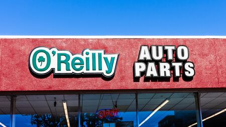 Feb 3, 2020 Mountain View / CA / USA - Close up of O'Reilly Auto Parts signage; O'Reilly Auto Parts is an American auto parts retailer that provides automotive aftermarket parts, tools, supplies etc..