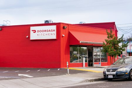 Feb 21, 2020 Redwood City / CA / USA - DoorDash Kitchens location; DoorDash Kitchens follows the ghost-kitchen model by providing shared space to restaurants that offer services through DoorDash's app