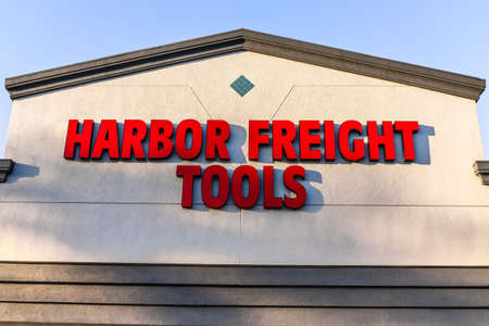 Feb 23, 2020 Cupertino / CA / USA - Harbor Freight Tools sign on a store facade; Harbor Freight Tools is a privately held discount tool and equipment retailer that began as a mail-order tool business
