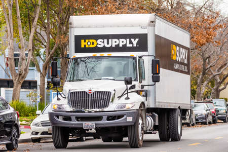 Mar 10, 2020 Sunnyvale / CA / USA - HD Supply truck making deliveries in South San Francisco Bay Area; HD Supply, Inc. is an industrial distributor in North America Redakční
