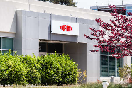 May 10, 2020 Sunnyvale / CA / USA - DuPont Silicon Valley Technology & Innovation Center; DuPont de Nemours, Inc is an American company operating in the chemicals industry;