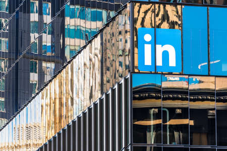 Nov 17, 2019 San Francisco / CA / USA - LinkedIn headquarters in SoMa district; LinkedIn is an American business and employment-oriented service owned by Microsoft