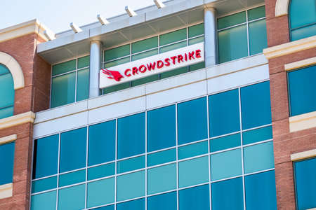 July 8, 2020 Sunnyvale / CA / USA - Crowdstrike headquarters in Silicon Valley; CrowdStrike Holdings, Inc. is a cyber-security technology company 新闻类图片