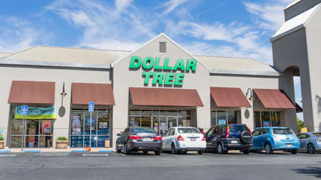 July 21, 2020 Milpitas / CA / USA - Dollar Tree store entrance; Dollar Tree Stores, Inc., is an American chain of discount variety stores that sells items for $1 or less