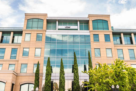 July 21, 2020 Sunnyvale / CA / USA - Uber offices in Silicon Valley; Uber Technologies, Inc. is an American multinational transportation network company (TNC)