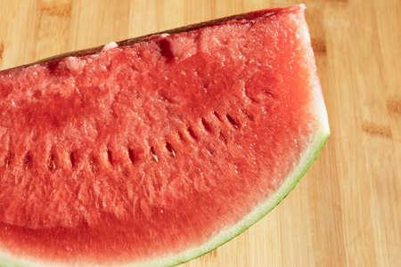 Close up of organic seedless watermelon slice Reklamní fotografie
