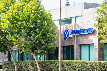 July 30, 2020 Menlo Park / CA / USA - Boeing office building housing the subsidiary Aurora Flight Sciences, which develops special-purpose Unmanned aerial vehicles; Silicon Valley