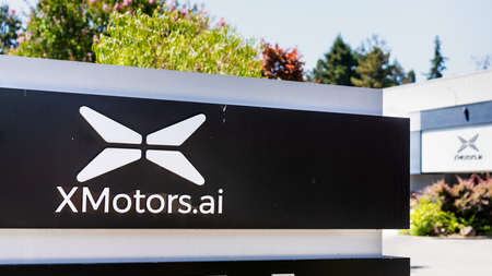 August 3, 2020 Mountain View / CA / USA - XMotors.ai headquarters in Silicon Valley; XMotors.ai is the American subsidiary of Xpeng (Xiaopeng Motors), a Chinese electric vehicle manufacturer