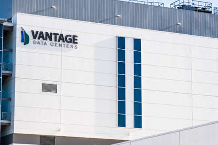 August 7, 2020 Santa Clara / CA / USA - Vantage Data Centers location in Silicon Valley; Vantage Data Centers LLC is an American company that provides data center solutions